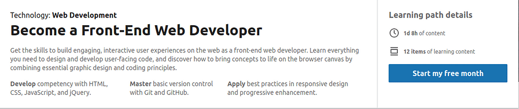 Become a Front-End Web Developer - www.linkedin.com