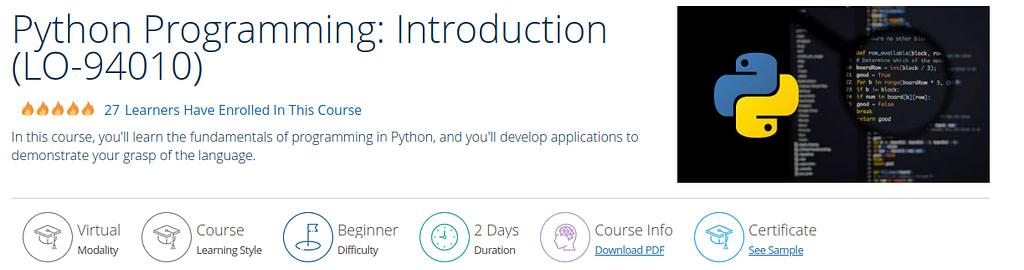 Python Programming: Introduction