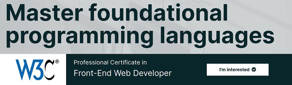 front end web developere
