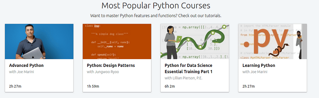 Most Popular Python Courses