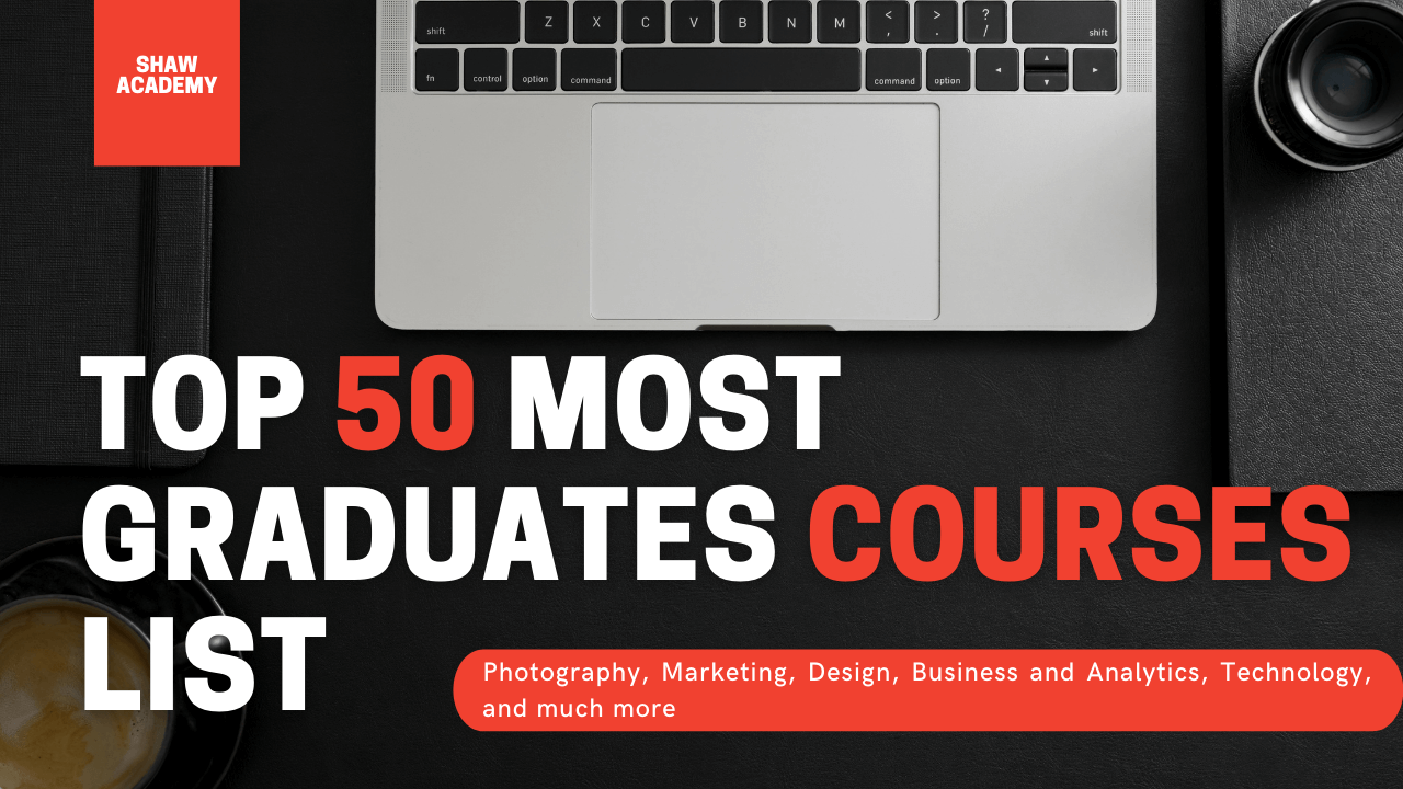 Top 50 Most Graduates Courses List From Shaw Academy