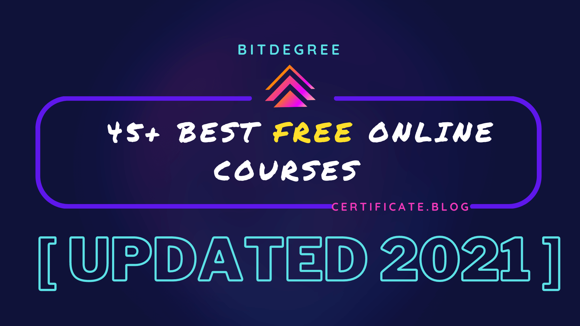 45+ Best Free Online Courses from Bitdegree [UPDATED January 2021]