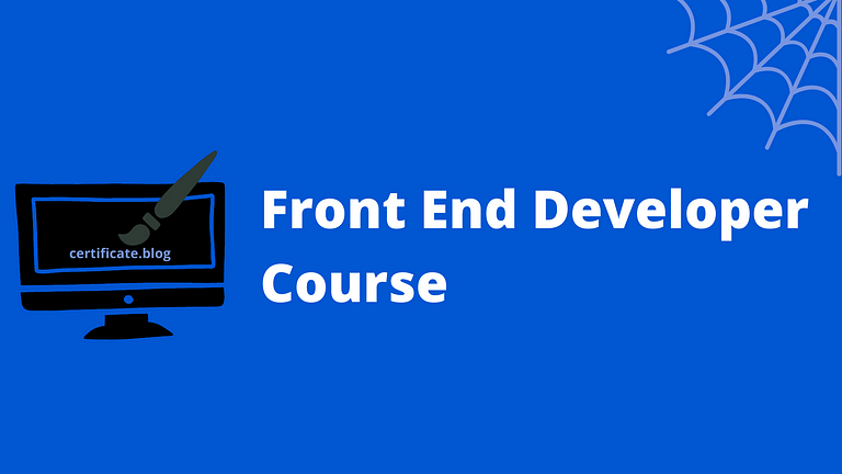 Best front end developer course in 2021