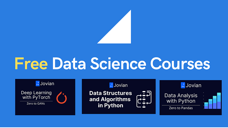 4 Data Science courses with a free certificate from Jovian