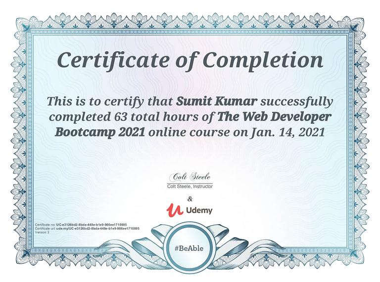 The Web Developer Bootcamp 2021