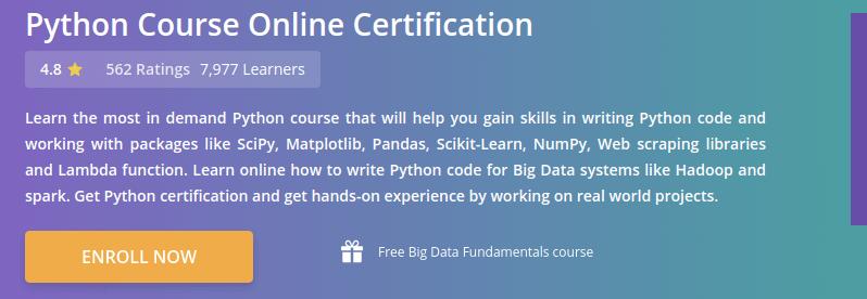 Python Course Online Certification
