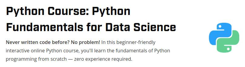 Python Course: Python Fundamentals for Data Science