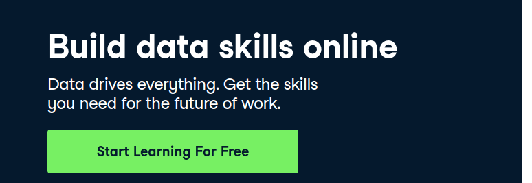 Build data skills online