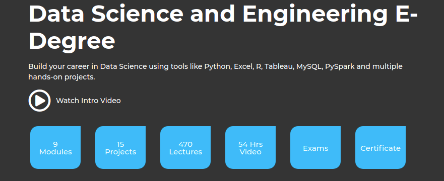 Data Science and Engineering E-Degree