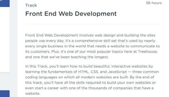 Front End Web Development Track - teamtreehouse.com