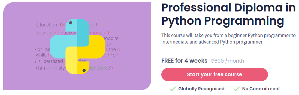 Professional Diploma in Python Programming