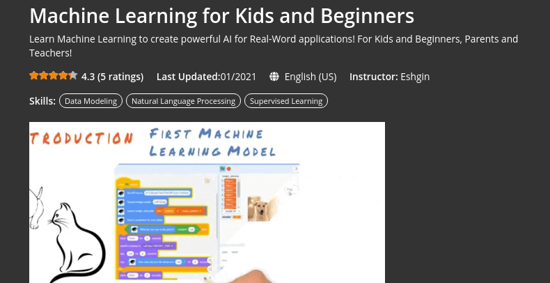 Machine Learning for Kids and Beginners